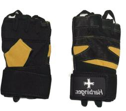 Harbinger leather 140 Pro wristwrap Weight Lifting Gloves Bl