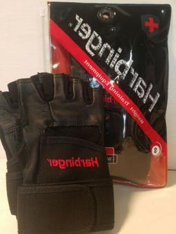 Harbinger 140 Ventilated Pro Wristwrap Weight Lifting Gloves