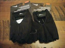 2-NWT Nike Mens Fundamental Training Workout Fitness Gloves