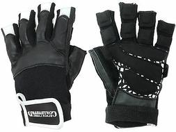 Contraband Black Label 5830 Premium Leather Lifting Gloves w