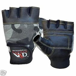 ARD CHAMPS™ Leather Weight Lifting Gloves Paded Strength T