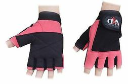 ARD WEIGHT LIFTING GYM GLOVES LEATHER PINK SLIM FITTING WOME