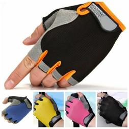 Bicycle Cycling Half Finger Gloves Outdoor Sports Mountain B