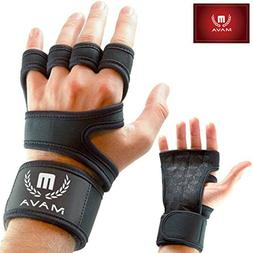 Mava Sports Black Small Cross Training Gloves with Wrist Sup