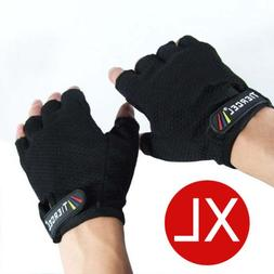 BLACK - Weightlifting gloves mens SIZE EXTRA LARGE. Sport gl