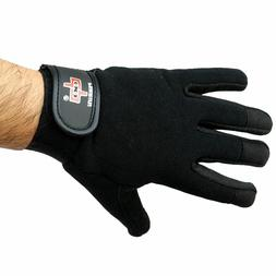Perrini Black Workout / Weight Lifting / Work Gloves Protect