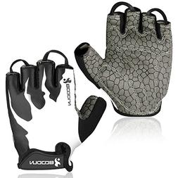 BOODUN Cycling Gloves, Breathable Half Finger Fitness Gloves