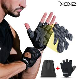Breathable Fitness <font><b>Gloves</b></font> Silicone Palm