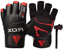 RDX Weight Lifting Gloves Cowhide Leather Gym Crossfit Power