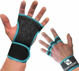 ProFitness Cross Training Gloves Non-Slip Palm Silicone Weig