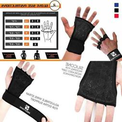 Profitness Cross Training Gloves Non Slip Palm Silicone Weig