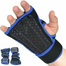 Grip Power Pads Cross Training Gloves with Wrist Support for