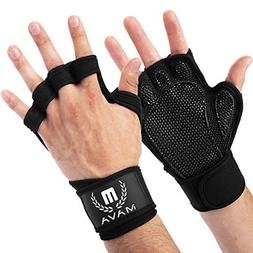 3af215e46c Mava Sports Cross Training Gloves Wrist Support Weight Lifti