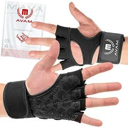 Cross Training Gym Gloves Wrist Support Protection XL Black