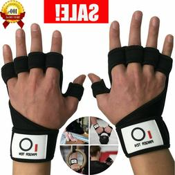 Crossfit Gloves Hand Grip Wrist Wraps Palm Protector Weight