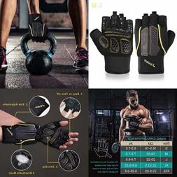 Trideer Double Protection Weight Lifting Gloves Padded Gym R