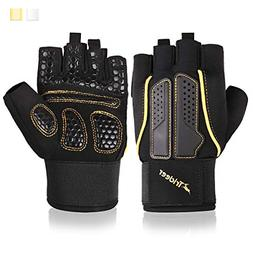 Trideer Double Protection Weight Lifting Gloves, Padded Gym