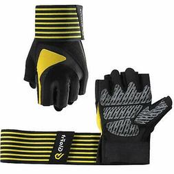 Glofit Essential Weight Lifting Gloves, 18'' Wrist Wraps Sup