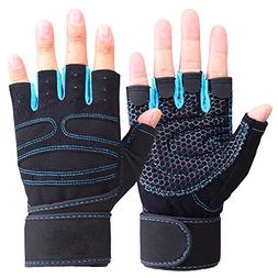 Exercise Gloves Wrist Wrap Support for Men Workout Crossfit