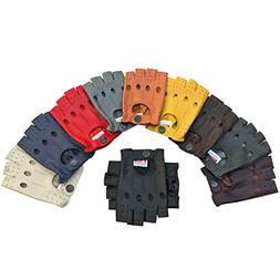 Prime Fingerless Driving Gloves Soft Cow Napp Leather Weight