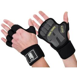 Firm Grip Gloves Best Weight Lifting With Wrist Wrap Workout