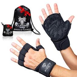 Fitness Gloves for Weightlifting, CrossFit – Black Workout