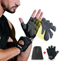 Fitness Gloves Silicone Palm Hollow Weightlifting Workout Du