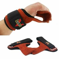 Fitness Gloves Weight Grips Lifting Heavy Duty Wraps Straps