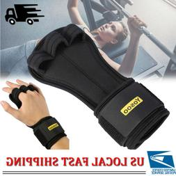 Fitness Gloves Weight Lifting Grip Gym Workout Power Trainin