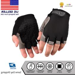 Fitness Gloves Weight Lifting Gym Workout Training Half Fing