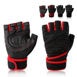 fitness gloves wrist wrap support for weight