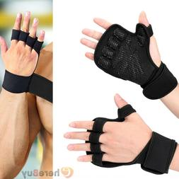 Fitness Sports Weightlifting Gloves Anti-slip Workout Half F