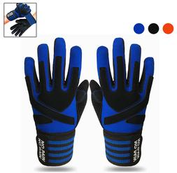 Full Finger Fitness Gloves Fit Lifting Weight Gym Exercise W