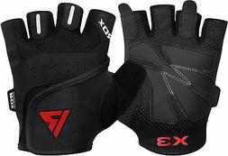 RDX Gel Weight Lifting Body Building Gloves Gym Straps Train