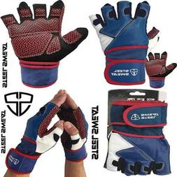 Weightlifting Gloves with 18-inch Wrist Wrap Support for Wor