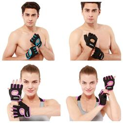 Gloves Half Finger Gym Sports Cycling Bike Fitness Outdoor B