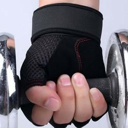 Gym Accessories A34 Weight Lifting Gloves Wrist Wrap Leather