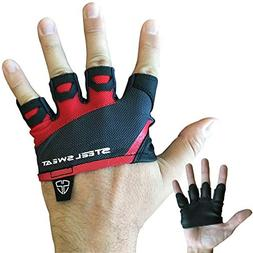 Steel Sweat Gym Gloves - Crossfit WOD Workout - Weight Lifti
