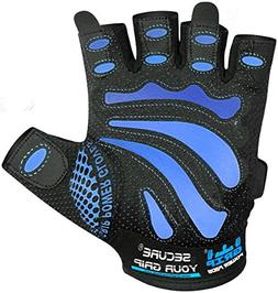 Gym Gloves for Men - Blue Line ALEX- Protect Your Hands & Im