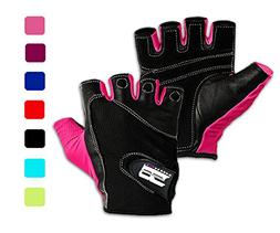 Women's Fit Grip Weight Lifting Gloves w/ Washable Ladies Gy