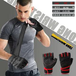 Gym Gloves With Wrist Wrap Support For Weight Lifting/Traini