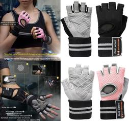 Gym Half Finger WorkOut Gloves Sport Weight Lifting Exercise