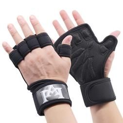 Gym Men Women Weight Lifting Gloves With Wrist Wrap Support