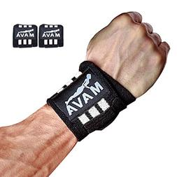 Mava Sports Gym Wrist Wraps for Pullups, Pushups, Dip Routin