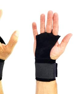 Gymnastics Gloves Hand Grip Wrist Wrap Leather Palm Protecto