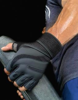 Heavy Duty Gym Gloves For Crossfit Weight Power Lifting Work