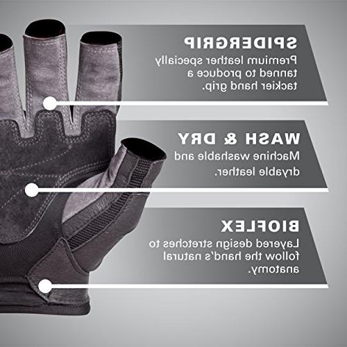 Harbinger 1345 Weight Lifting Gloves - - Gray