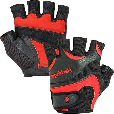 138 flexfit weight lifting gloves black red