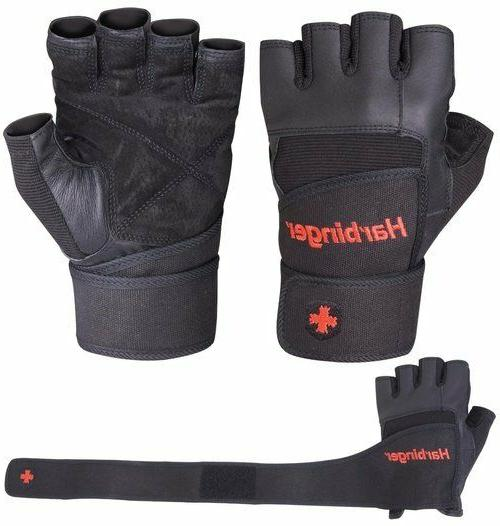 140 pro wristwrap weight lifting gloves black