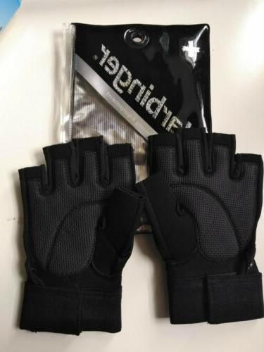 165 black cross train weight lifting gloves